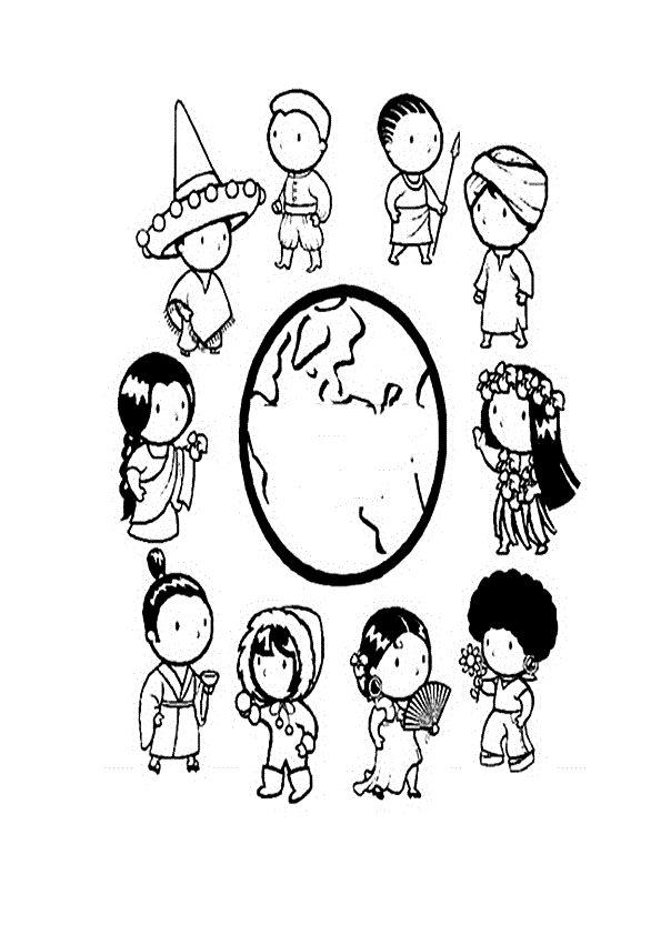 COLOREA TUS DIBUJOS: Dibujo de Niños en Todo el Mundo para