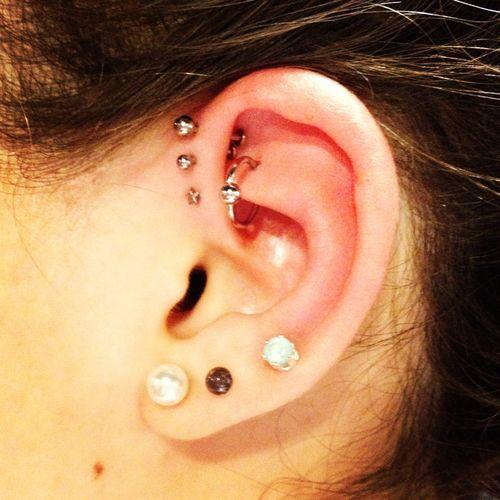 cute ear pierceings
