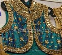 High Neck Mirror Work Blouses | Heavy work bridal blouse ...