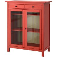 IKEA HEMNES Linen cabinet, red, glass found on Polyvore ...