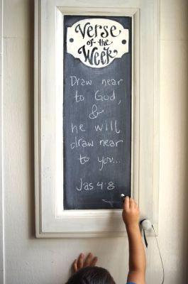 Cabinet Verse of the Week Chalkboard  Scripture Memory  by kijsa: