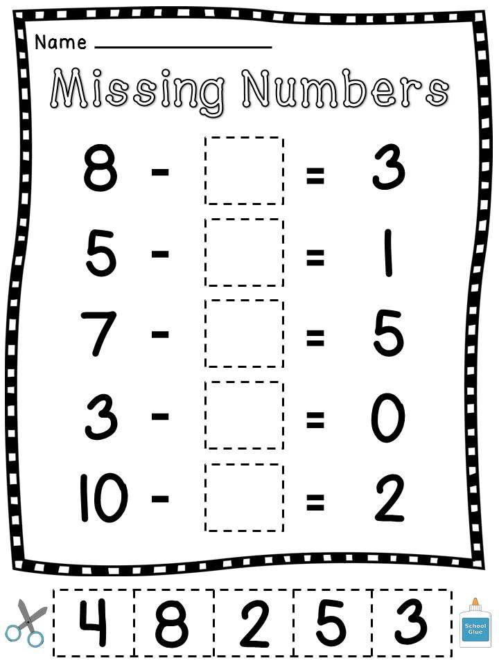14 best Math-Missing Addends images on Pinterest
