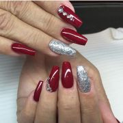 christmas acrylic nails