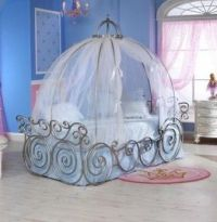 Cinderella Canopy Twin Bed Frame - contemporary - kids ...