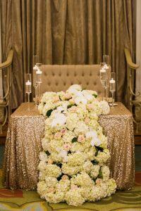 Wedding Reception Decor | Bride and Groom Sweetheart Table ...