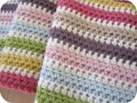 No real pattern, just a row of half double crochet in ...