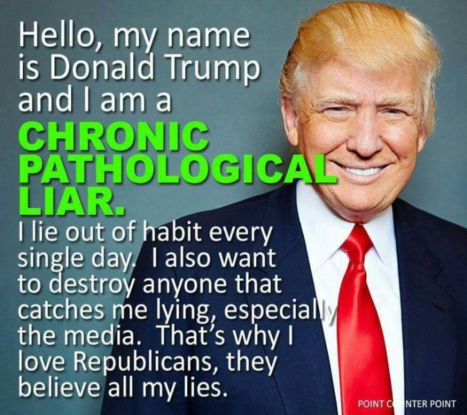 Image result for Trump the Liberal Liar