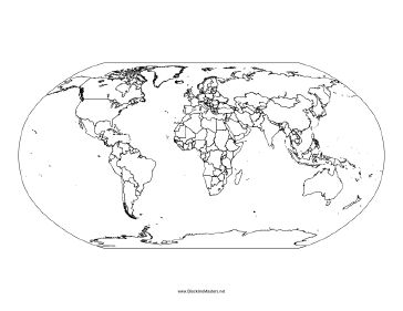 This blackline master features a Map of World. Free to