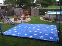 Backyard dance floor for July 4th party and Vow Renewal ...
