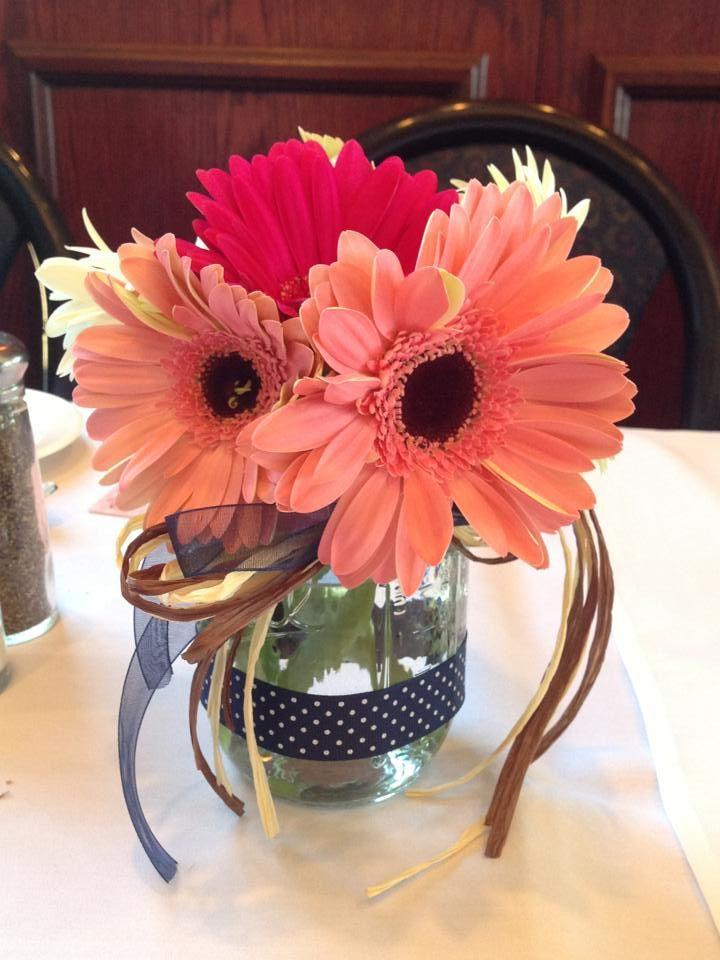 Gerbera DaisyMason Jar Centerpieces  Gerbera Daisy