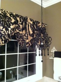 Window valance made from pillow shams diy Black and Tan ...