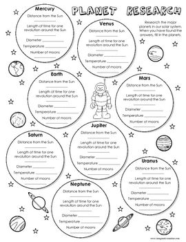Planets, Worksheets and Student on Pinterest