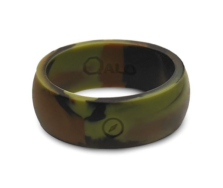 Mens Camo Silicone Ring Traditional We And Metals