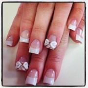 acrylic bows nail design