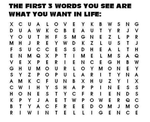 what you want: dont look at comments if you dont want to be influenced by others words. mine: Love, Popularity, Honesty