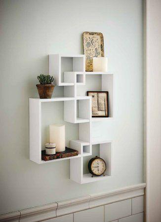 Generic Intersecting Squares Wall Shelf Decorative Display