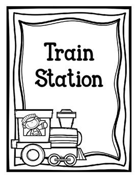 A great pack to make your dramatic play train station even