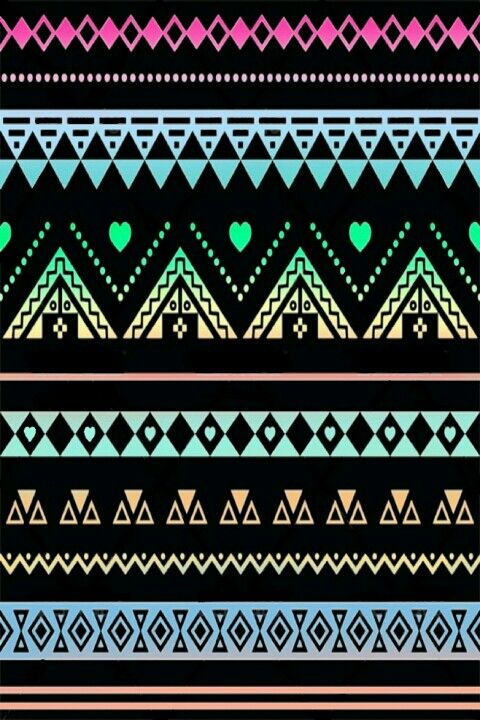 Cute Mustaches Wallpapers Black Neons Lacey Aztec Print Wallpaper Ok Where Else