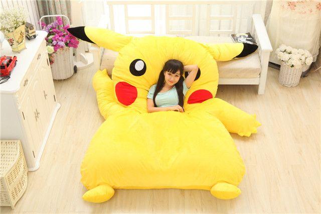 POKEMON Pikachu plush bed Giant cushion bed