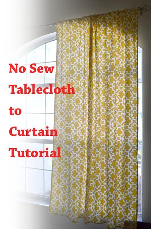DIY Tutorial DIY Curtains  DIY No Sew Curtains from a