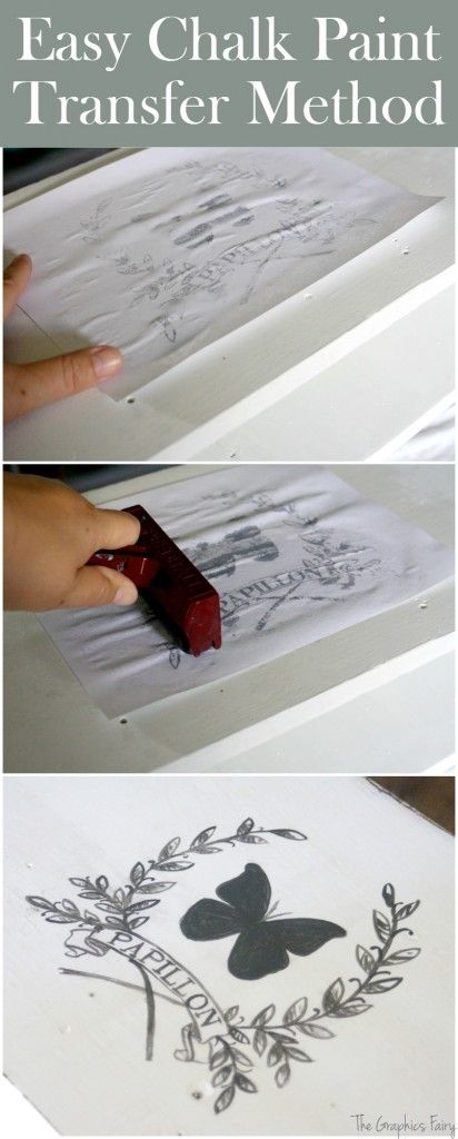 Easy Chalk Paint Transfer Method, such a fun and inexpensive DIY Technique! Love this idea!