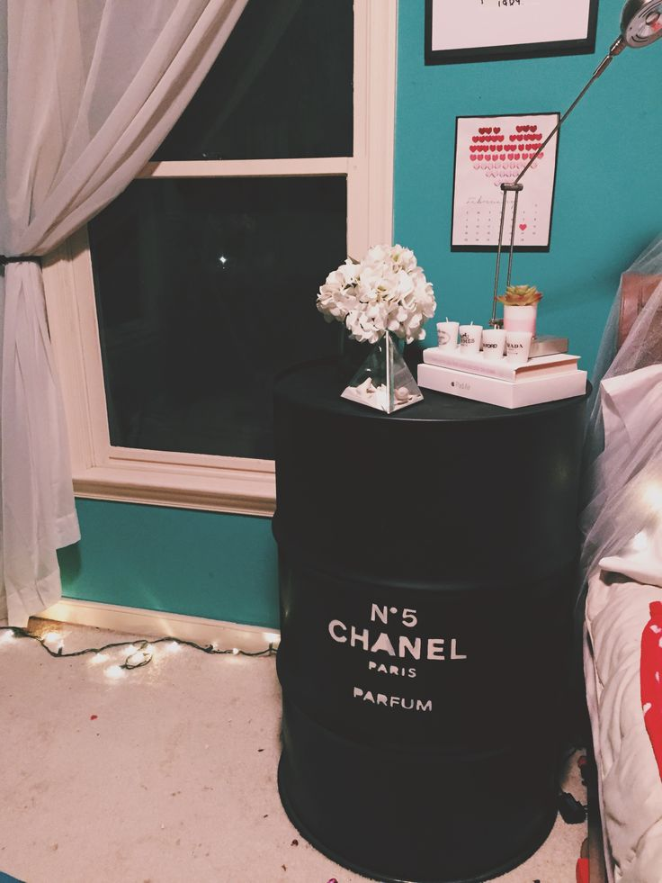 DIY chanel night stand  tumblr inspired room decor DIY