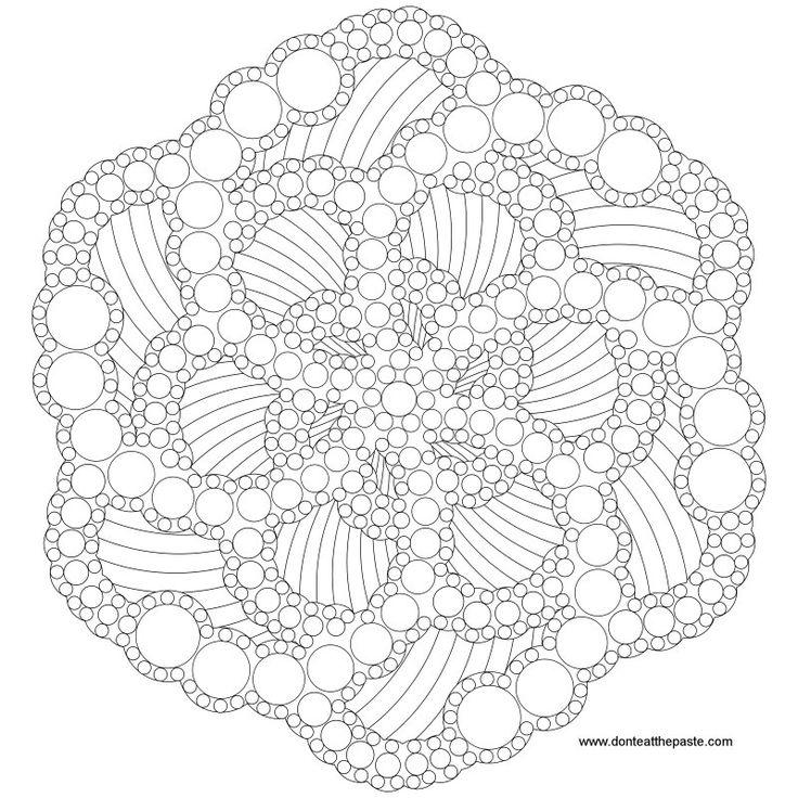 Don't Eat the Paste: Dots Mandala to color on Pinterest