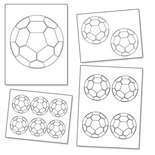 Ball Template. printable soccer ball template cake