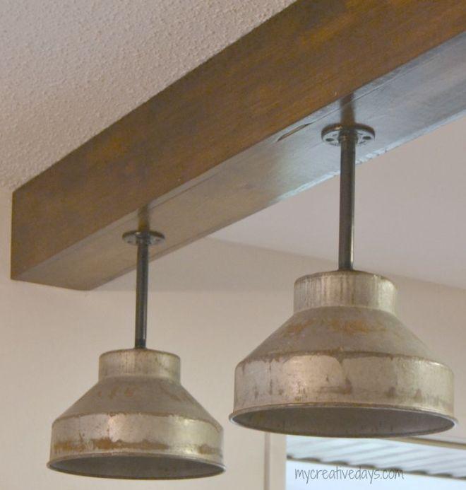 Diy kitchen light fixtures part 2 diy and crafts table