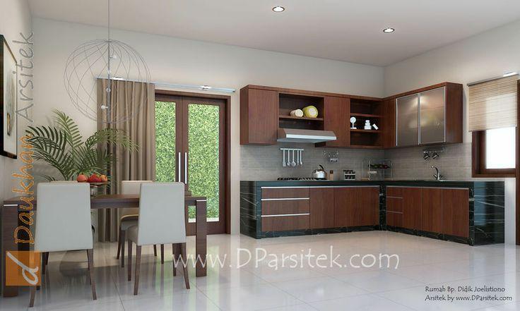 sketsa 3D ruang makan dan dapur Desain Rumah di kota Cilacap arsitek dan interior by www