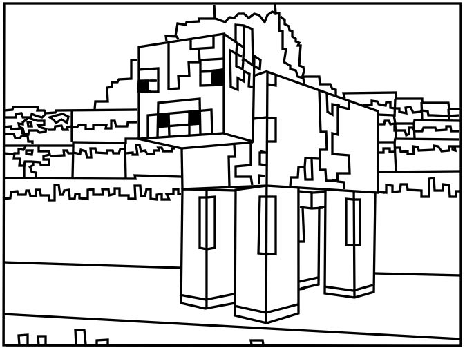 48 best images about MINECRAFT COLORING PICTURES on Pinterest