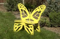 Metal Butterfly Garden Bench. You can make your own