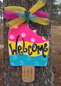 Summer door hanger, Popsicle door hanger,Personalized ...