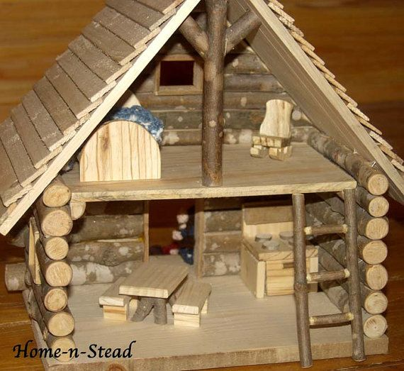 17 Best Images About Miniature Log Cabins On Pinterest Folk Art Dollhouse Miniatures And
