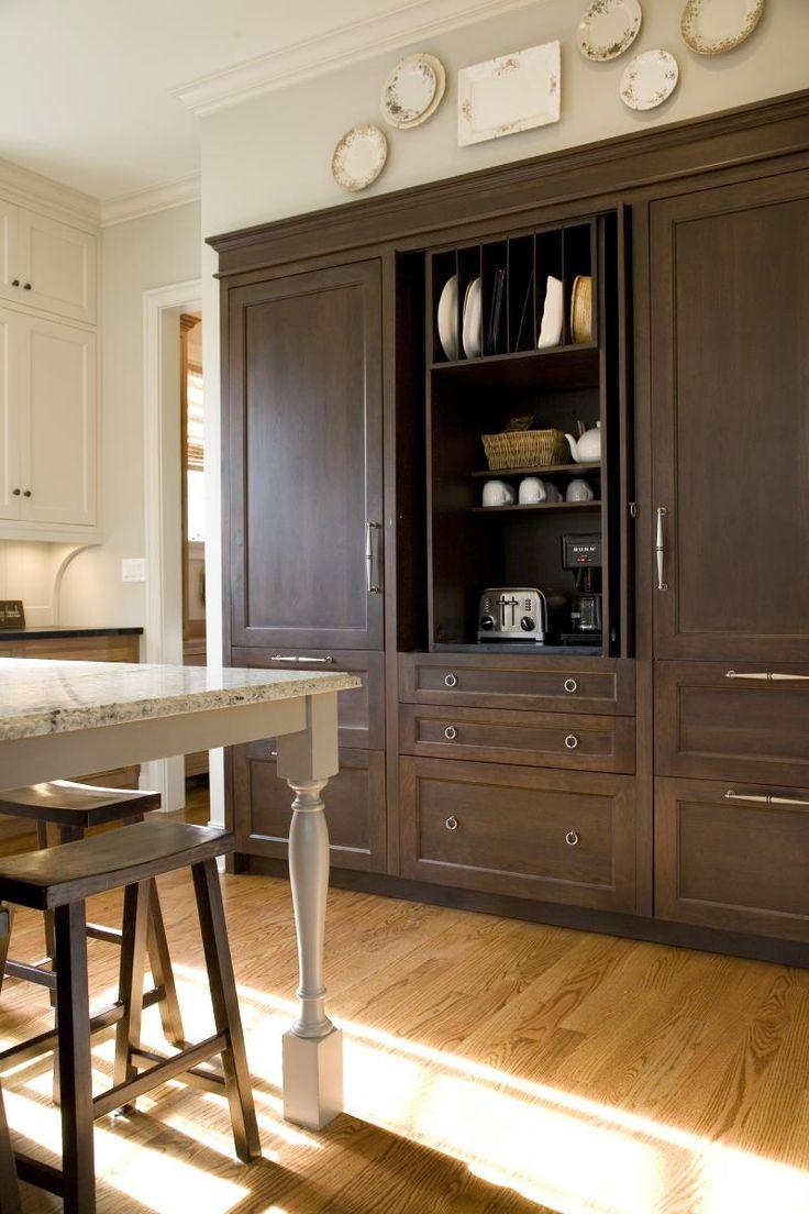 Builtin coffee  small appliance station  Kitchen Ideas