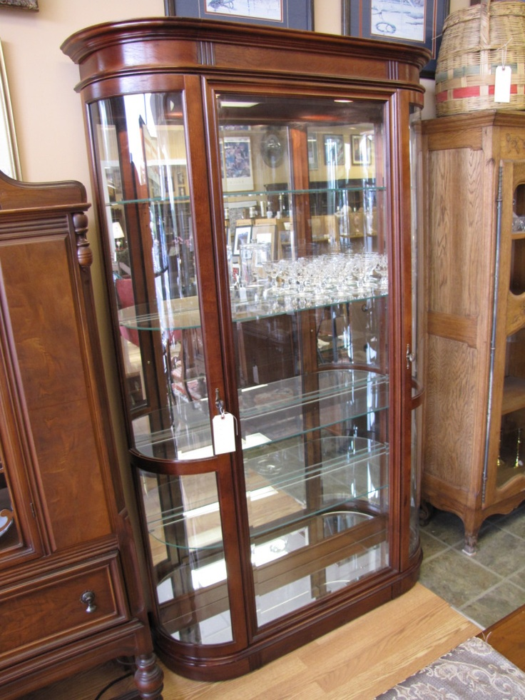 Beautiful Glass Curio Cabinet  For the Home  Pinterest  Curio cabinets Display cabinets and