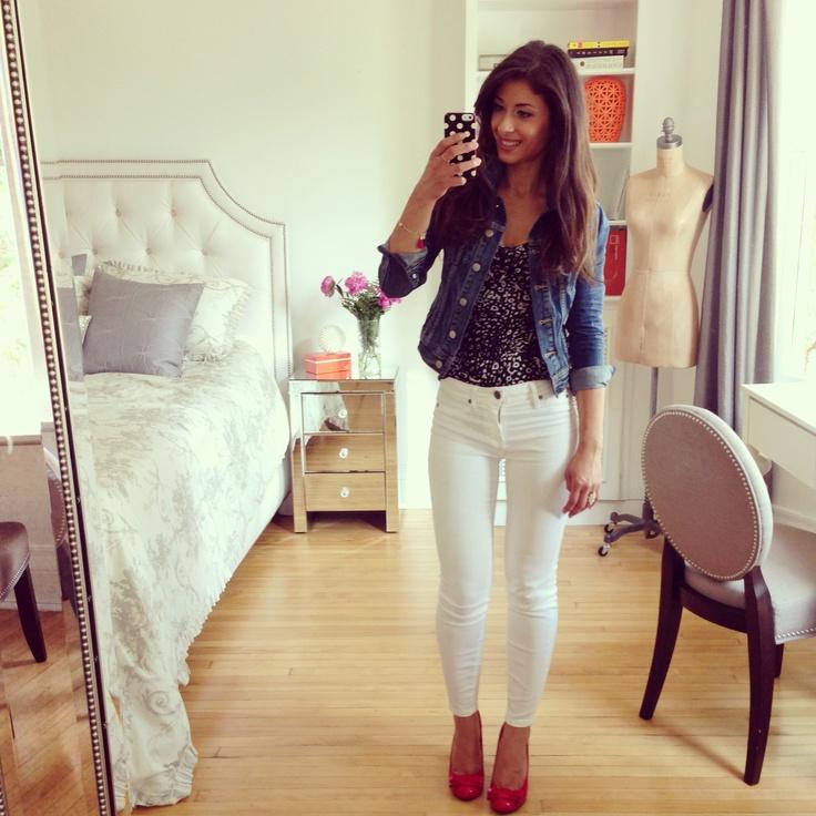 Mimi Ikonn White Denim White Jeans Look Of The Day