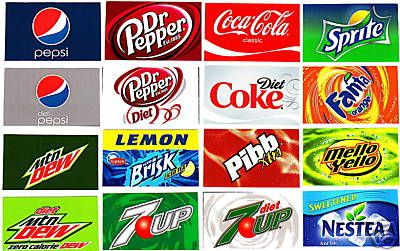 Labels for Pepsi Soda Machines  16 Small Adhesive Soda Flavor Label Vending Sticker Set  House