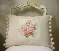 french vintage fabric cushion | pillow. ...almohadas ...