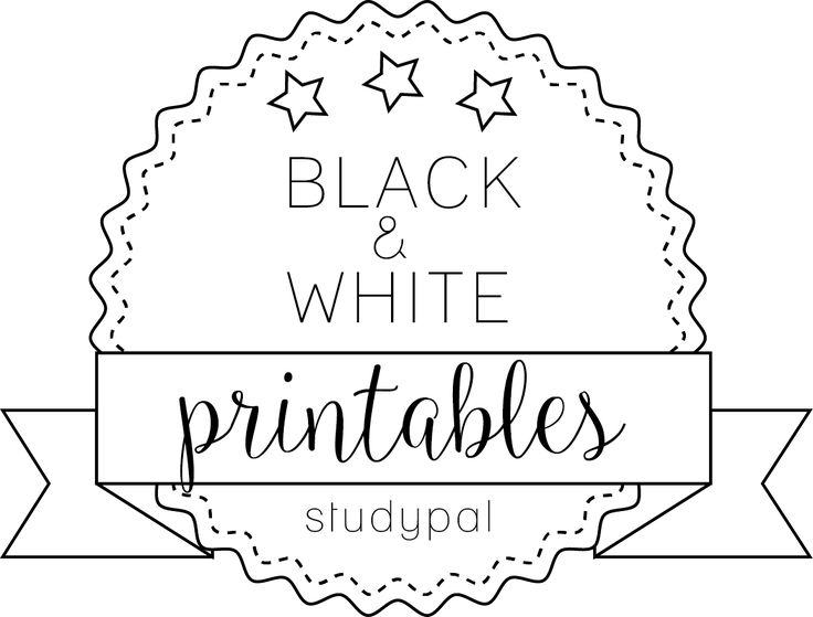 17 Best images about Planner Pages Black & White on