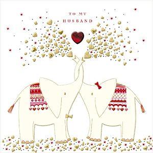 SQ 5839 Charming Elephants Valentine 130108 Turnowsky Cards Pinterest