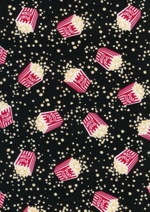 Cute Flamingo Wallpapers Timeless Treasures Fun Food Movie Popcorn Boxes Fabric 1