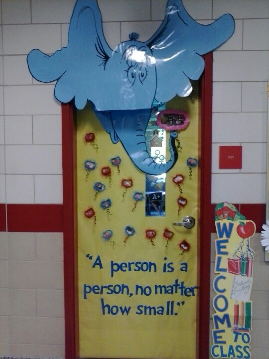 Horton Hears a Who classroom door.