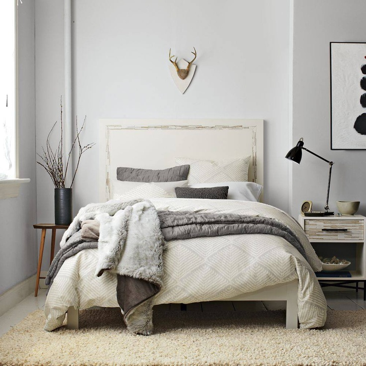 from West Elm  beautiful  bedroom  zzzzs  Pinterest  Grey walls Beautiful and Neutral