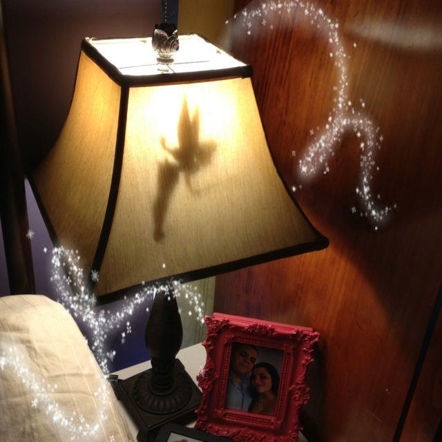 Diy Silhouette Lamp Shade Tinkerbell Disney Ideas
