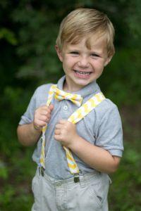 Yellow Chevron Bow Tie & Suspenders Set, yellow chevron ...