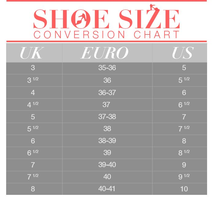 Shoe Size Conversion 101: Save This Chart and Never Order ...