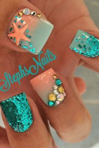 Best 20+ Bright Nail Art ideas on Pinterest | Beach nail ...