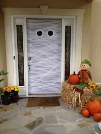 Halloween-Craft idea-Mummy door decoration | Holiday ...