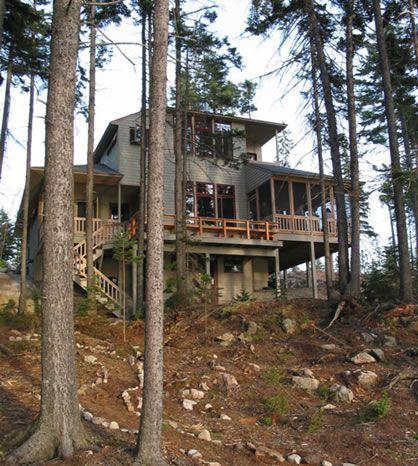 hillside house plans small lake